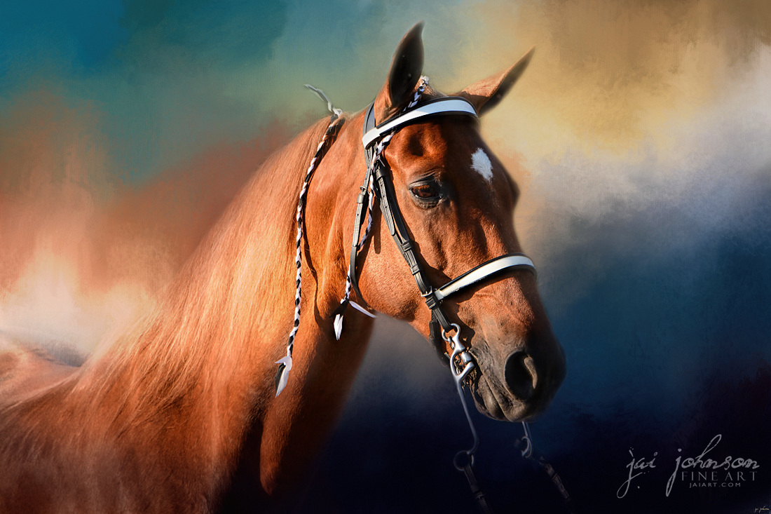 Bathed In The Evening Light - Tennessee Walking Horse Art by Jai Johnson