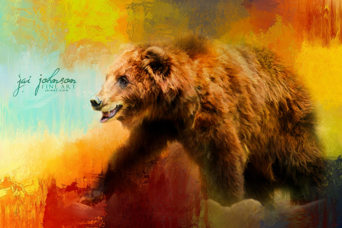 Colorful Expressions Grizzly Bear