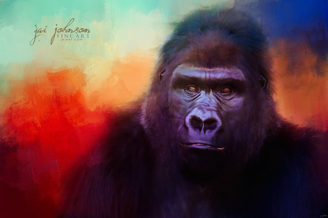 Colorful Expressions Gorilla