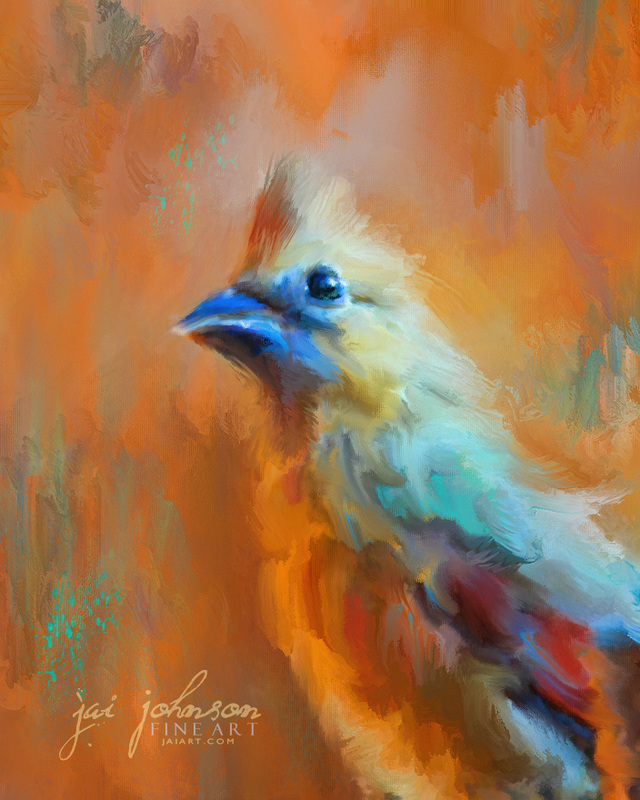 Morning Cheer Bird Painting