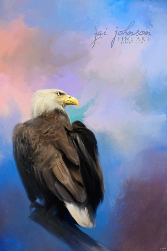Watching Over The Heavens - Bald Eagle Art