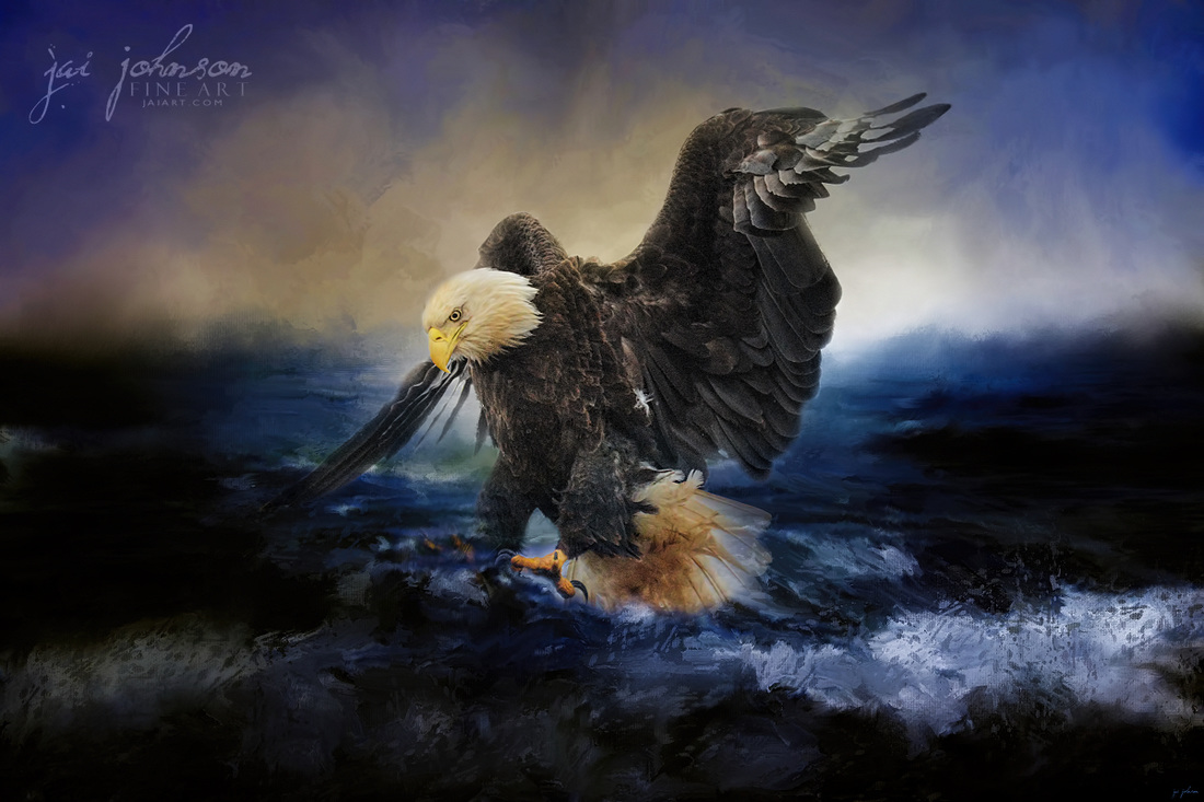 Deep Sea Fishing - Bald Eagle Art