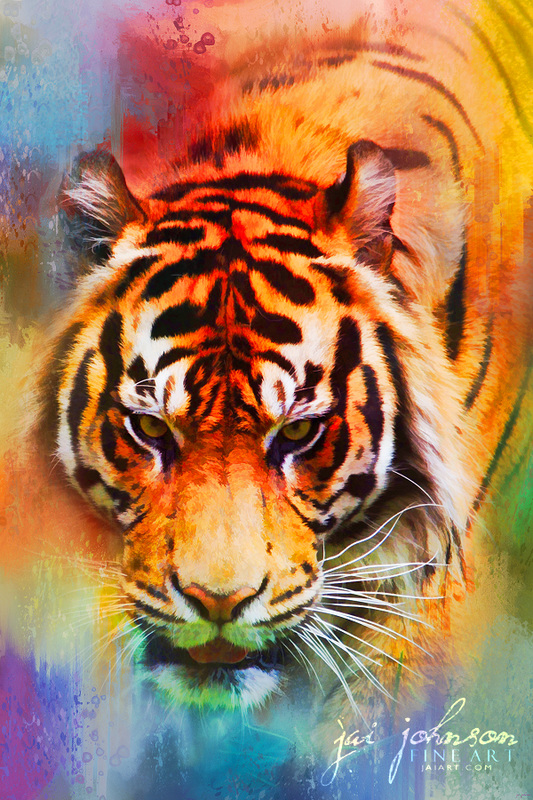 Colorful Expressions Tiger Art