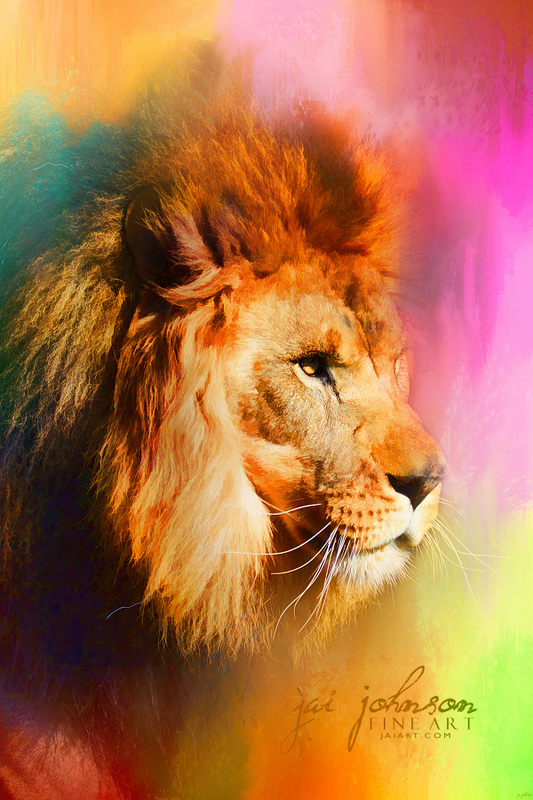Colorful Expressions Lion Art