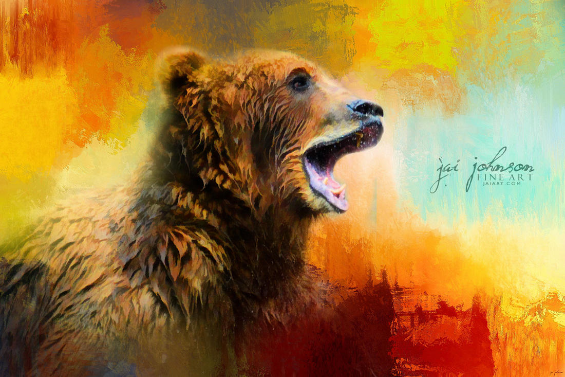 Colorful Expressions Grizzly Bear 2