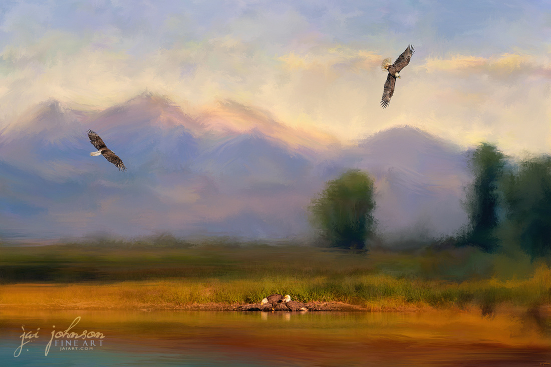 Where Eagles Play Wildlife Art