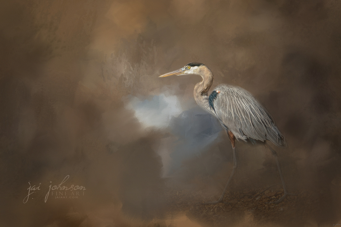 Walking Into Blue - Blue Heron Art