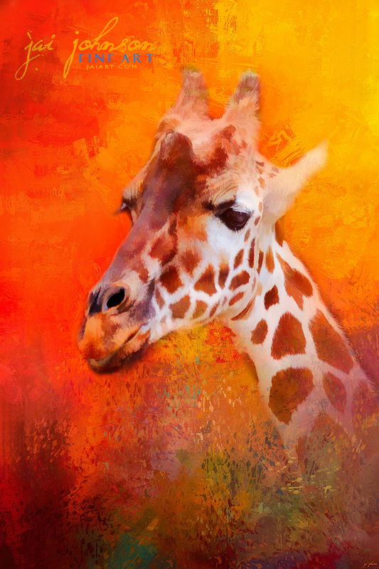 Colorful Expressions Giraffe