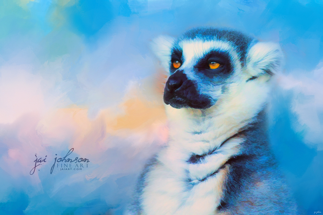 Colorful Expressions Lemur