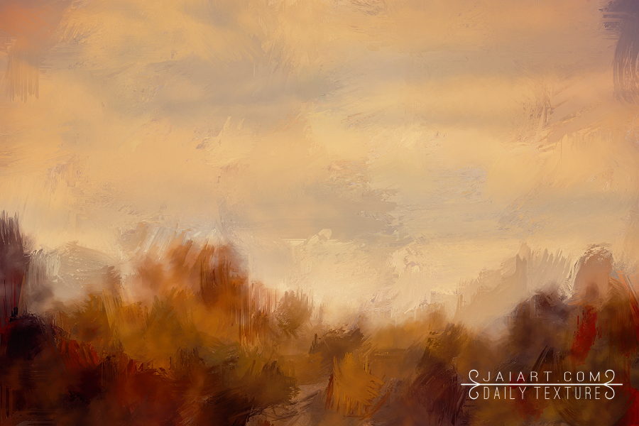 Over The Autumn Treeline - Brushstrokes Texture