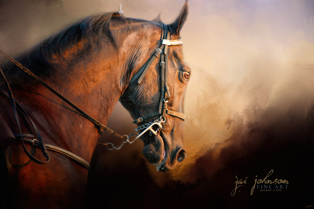 Working the Heat - Tennessee Walking Horse Art
